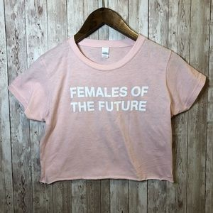 Tops - Females of the Future Cropped Tee